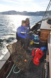 Helena og Are bak dagens fangst